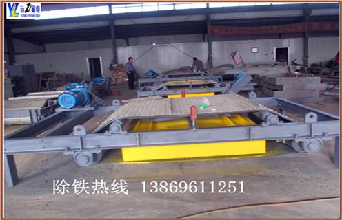 铠甲式永磁自卸式除铁器的工作流程