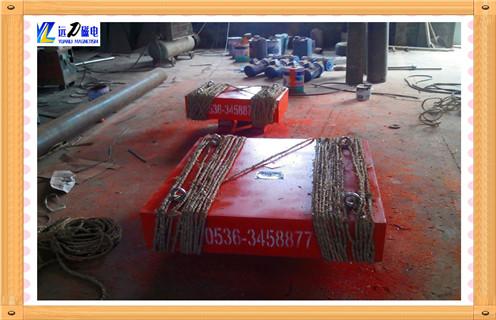 悬挂式永磁除铁器输送带强磁铁吸铁石锯末石料煤炭破碎机