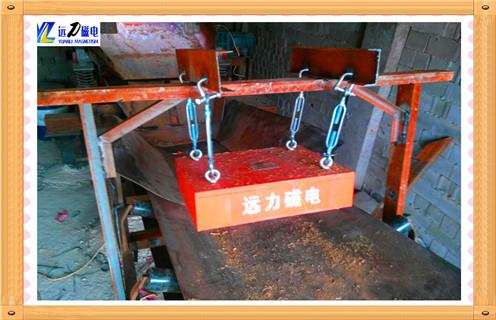 600输送带悬挂式永磁除铁器皮带机磁铁传送带远距离超强