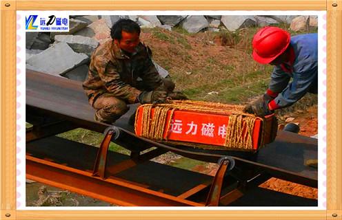 悬挂式永磁除铁器输送带专用吸铁器自卸式水泥建材煤矿
