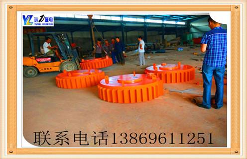 广西油冷自卸式电磁除铁器经客户验收发货